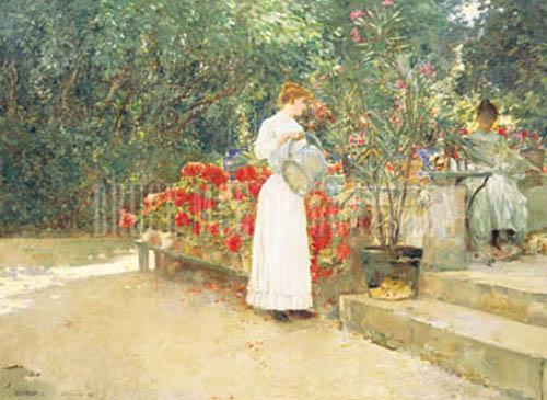 After Breakfast, 1887 by Frederick Childe Hassam