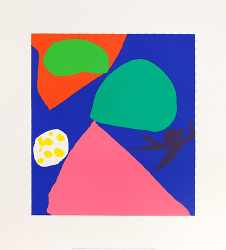 Gouache for St. Ives Window, 1992 by Patrick Heron