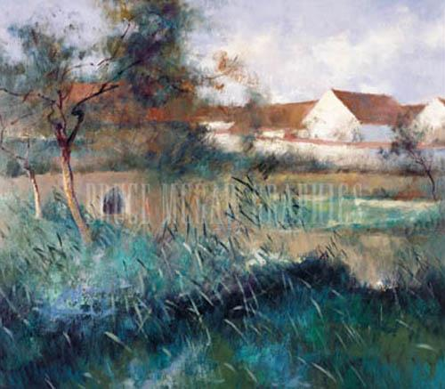Landscape with Bridge by Louisa Lee