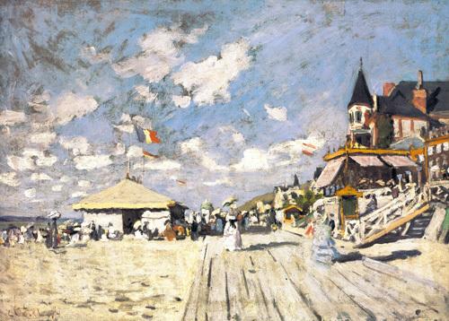 Sur les Planches de Trouville by Claude Monet