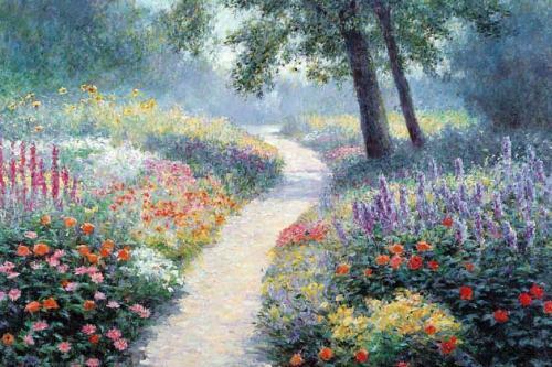 Sunlit Path by Bi Wei