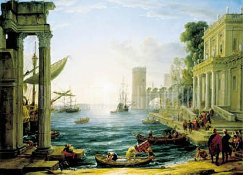 Seaport with Embarkation of Sheba by Claude