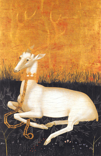 The Wilton Diptych: White Hart by English or French School