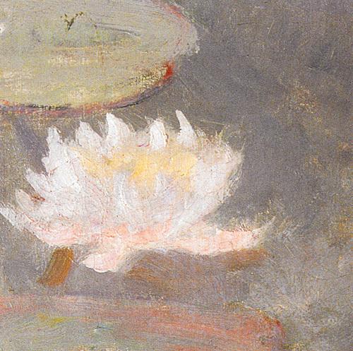 Nympheas Rosa (Detail) by Claude Monet