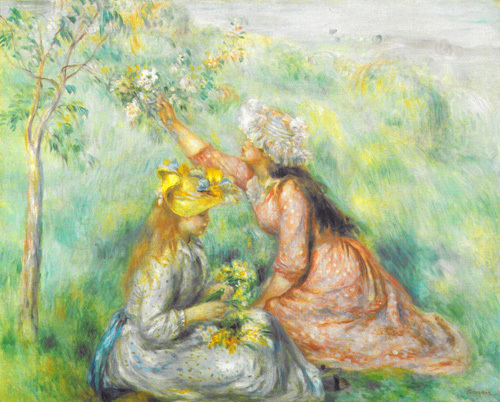 Girls Picking Flowers in a Meadow, c.1890 by Pierre Auguste Renoir