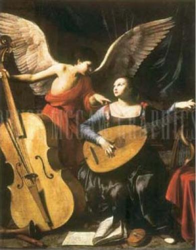 St. Cecilia and the Angel by Carlo Saraceni