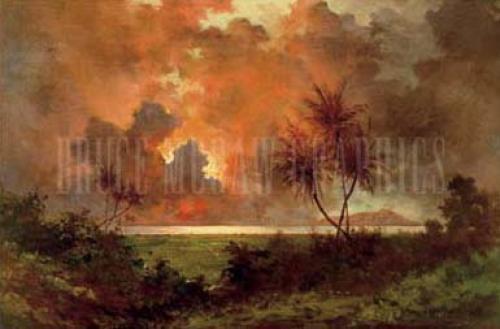 Sunrise Over Diamond Head,1888 by Jules Tavernier