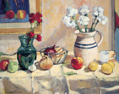 Still Life with Vase and Pitcher by Tony Saladino
