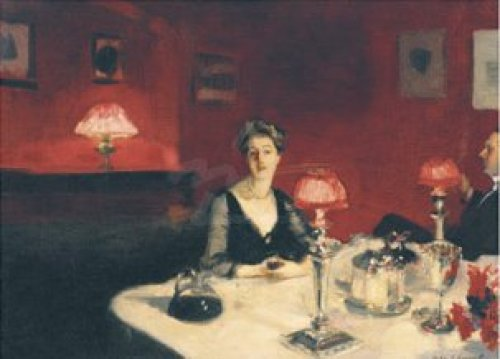 Le verre de porto (A Dinner Table at Night), 1884 by John Singer Sargent