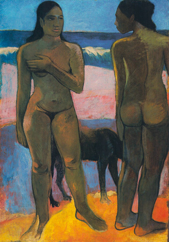 Two Nudes on a Tahitian Beach, 1891 by Paul Gauguin