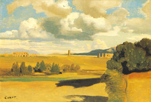 The Roman Campagna, with the Claudian Aqueduct, probably 1826 by Jean-Baptiste-Camille Corot