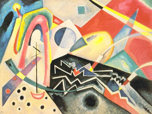 White Zig Zag by Wassily Kandinsky