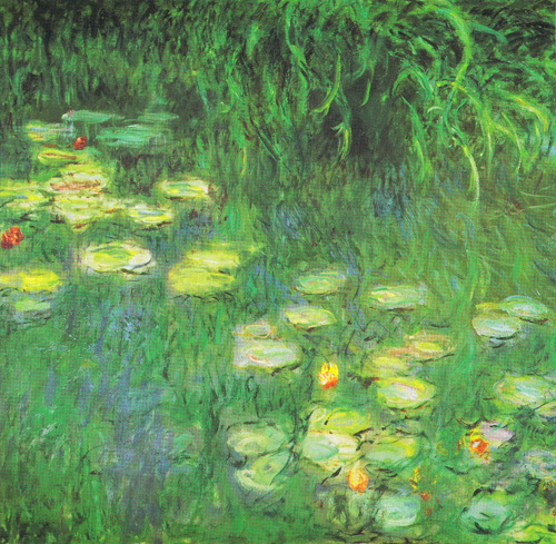 Water Lilies: Morning (detail) by Claude Monet