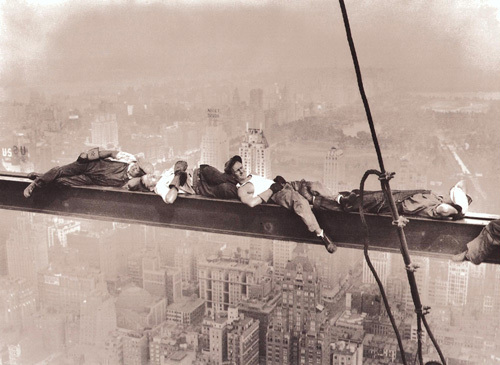 Rockefeller Center, 1932 (Resting on a Girder) by Charles C. Ebbets