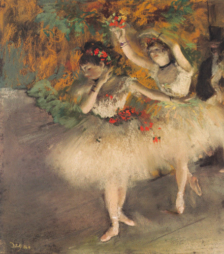 Two Dancers Entering the Stage, c.1877-1878 by Edgar Degas