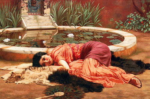Dolce far niente (A Pompeian Fishpond), 1904 by John William Waterhouse