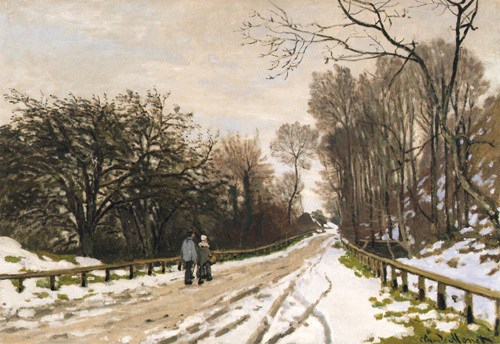 Road toward the Farm, Saint-Simeon, Honfleur, c. 1867 by Claude Monet