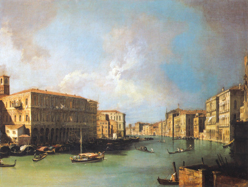 The Grand Canal, Venice, Looking North from near the Rialto Bridge, c. 1726 by Giovanni Canaletto