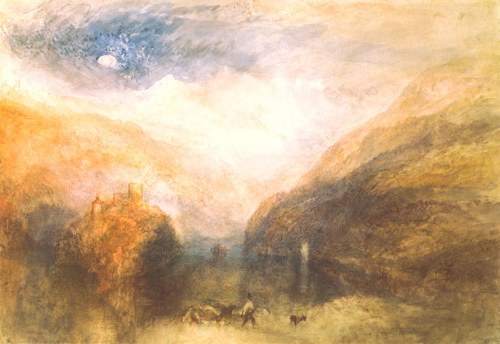 The Lauerzersee, with the Mythens, c.1848 by Joseph Mallord William Turner