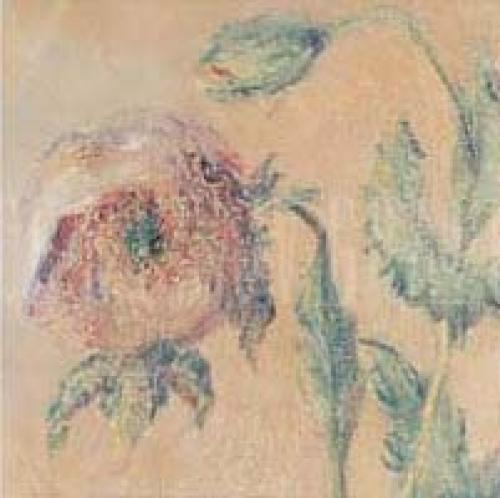 Purple Poppies (detail II) by Claude Monet