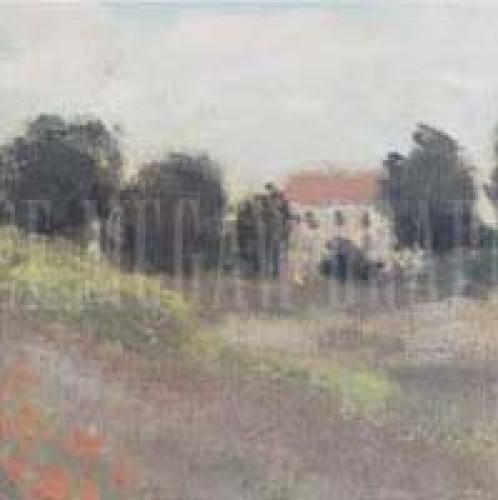 Coquelicots, environs d'Argenteuil, 1873 (detail I) by Claude Monet