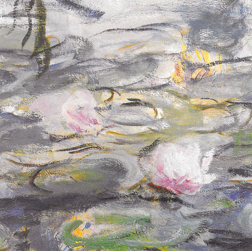 Water Lilies and Willow Branches (detail II) by Claude Monet