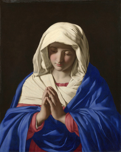 The Virgin in Prayer by Sassoferrato (Giovanni Battista Salvi)