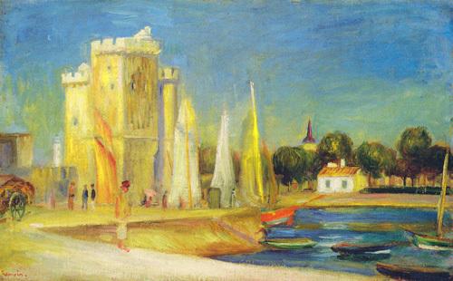 Port de la Rochelle by Pierre Auguste Renoir