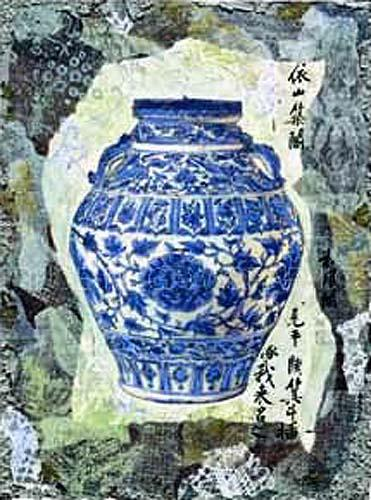 Blue Ginger Jar by Annabel Hewitt