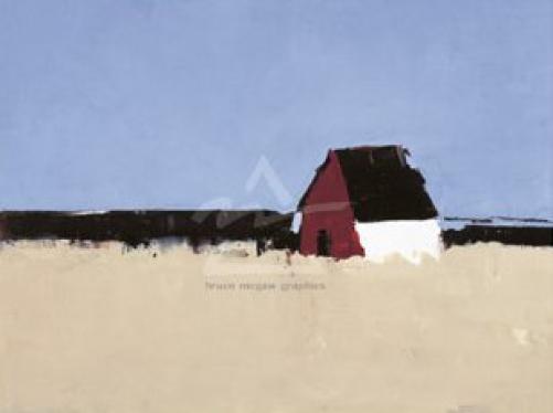 The Red Farmhouse by Sandra Pratt