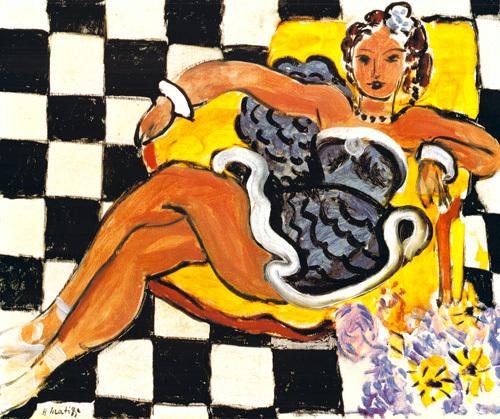 Danseuse dans le Fauteuil, sol en Damier, 1942 by Henri Matisse