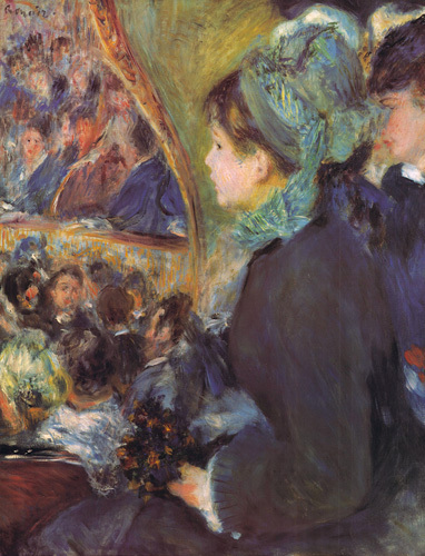 At the Theatre (La Premiere Sortie) by Pierre Auguste Renoir