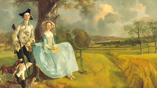 Mr. and Mrs. Andrews, about 1750 by Thomas Gainsborough