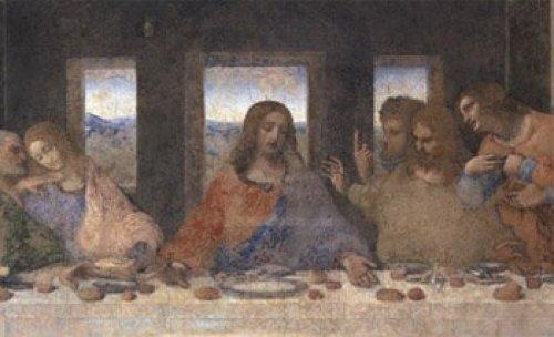 The Last Supper, 1498 (post-restoration) (detail) by Leonardo da Vinci