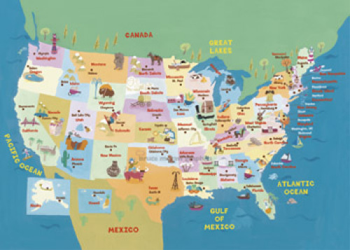 USA States and Capitals by Genovese