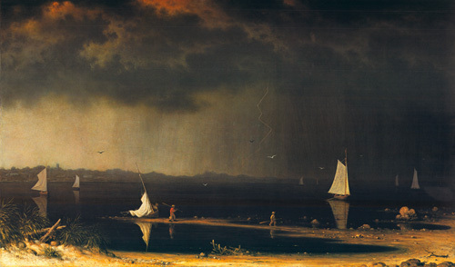 Thunder Storm on Narragansett Bay, 1868 by Martin Johnson Heade
