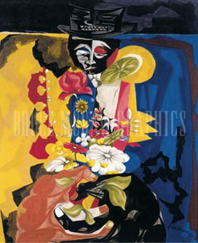 Clown by Jacob Lawrence