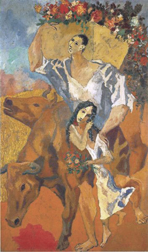 Composition: The Peasants, 1906 by Pablo Picasso