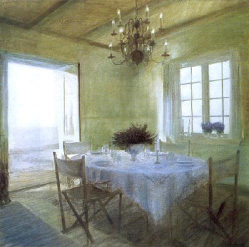 Dining Table in Early Summer Light by Piet Bekaert