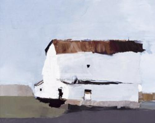 White Farmhouse by Sandra Pratt