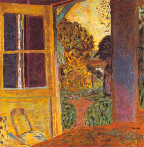 Door Open onto the Garden by Pierre Bonnard