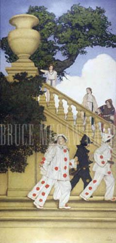 Florentine Fete - A Stairway to Summer, 1912 by Maxfield Parrish