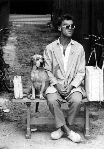 Dog with matching owner by Albrecht Schönhals
