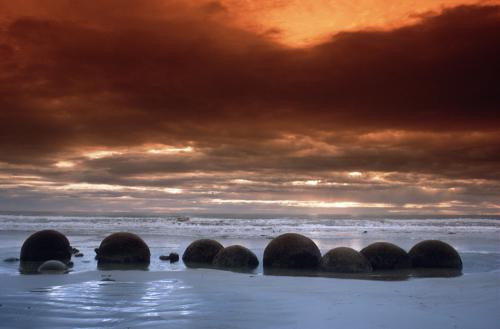 Moeraki Boulders, New Zealand by Roland Marske
