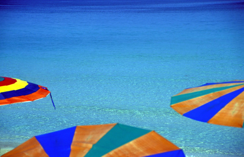 Multi-coloured umbrellas by Rosseforp