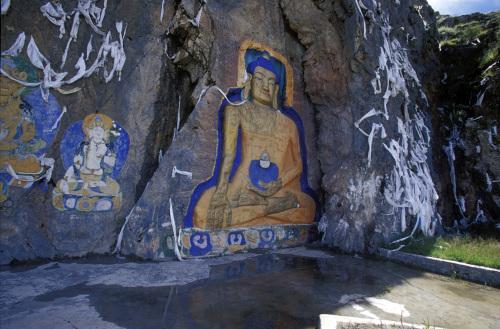 Buddha wall painting, Lhasa, Tibet by Roland Marske