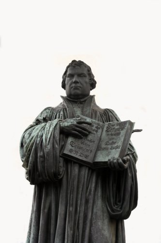 Statue of Martin Luther in Wittenberg by Heinz Krimmer