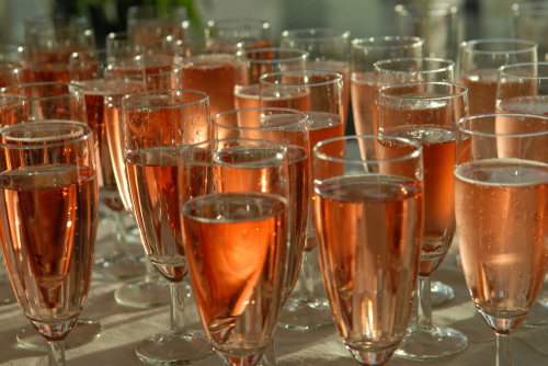 Pink champagne by Gerd Pfeiffer