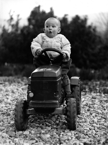 Little tractor driver by Gerd Pfeiffer