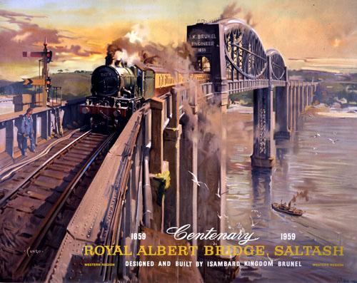 Royal Albert Bridge, Saltash by The National Archives